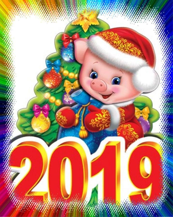 Открытки для ребенка с новым годом 2019, английскому