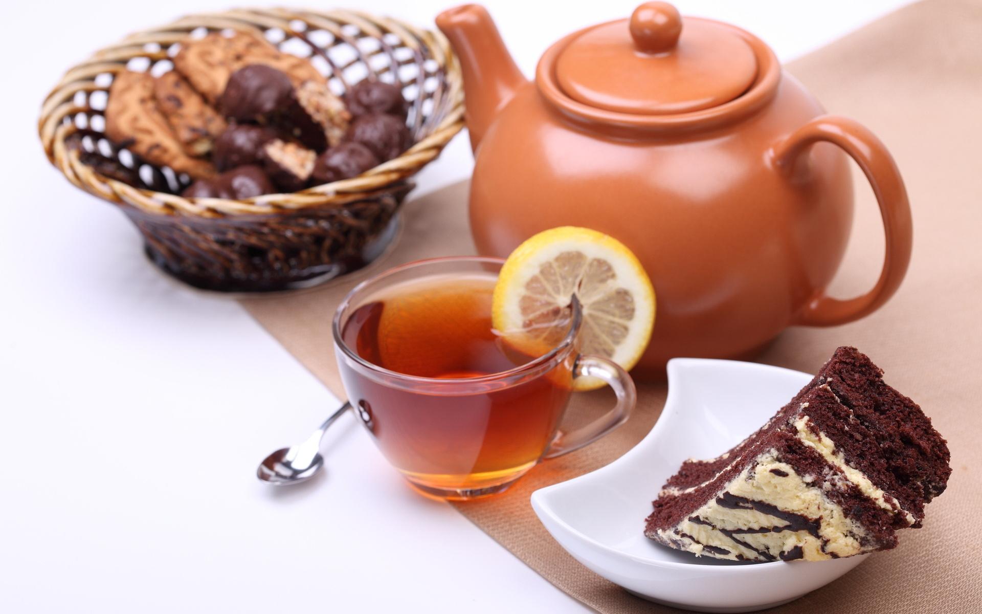 пирожные лимоны чай  № 3678275  скачать